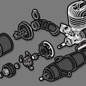 加速管 & 空氣濾清器 & 引擎組件