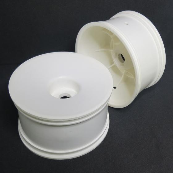 0020962W  1/8 Truggy White Hex Wheel