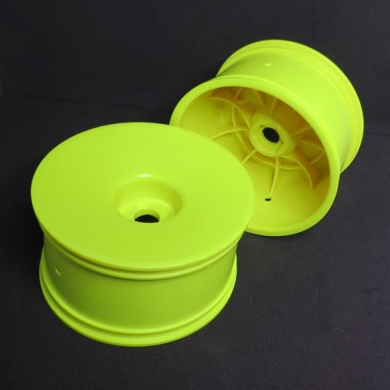 0020962Y  1/8 Truggy Yellow Hex Wheel