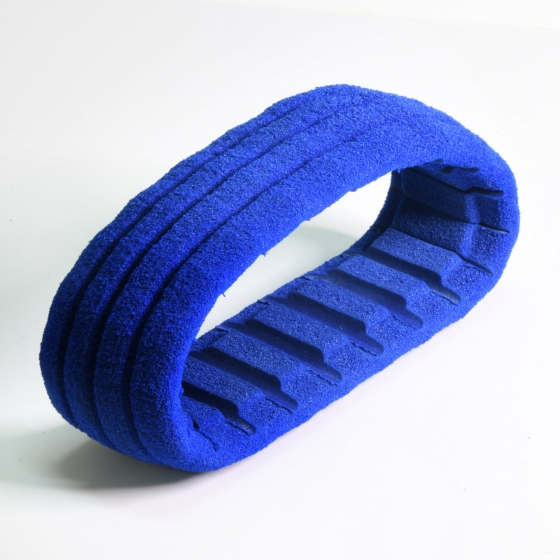 Z011120J   1/8越野海綿-粗絲-內剖溝-藍色
